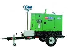 30kw潍柴锐动力拖车发电机组带升降灯绿色新款