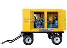 100kw康明斯移动防雨棚发电机组