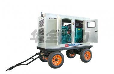 120kw玉柴防雨棚拖车发电机组